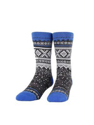 NVRLND Marius Glitch Blue strømper, grå/blå/hvit 3