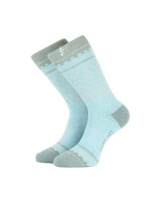 NVLND Marius Teal sokker, blågrønn,hvit,grå 6