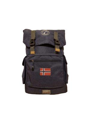 Scandinavian Explorer retrosekk, blåmelert 5