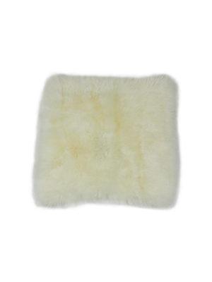 Sitteunderlag i saueskinn, hvit