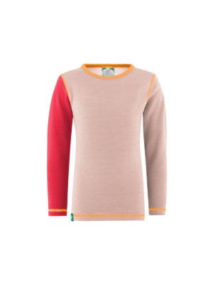 Vossatassar solid trøye, rosa