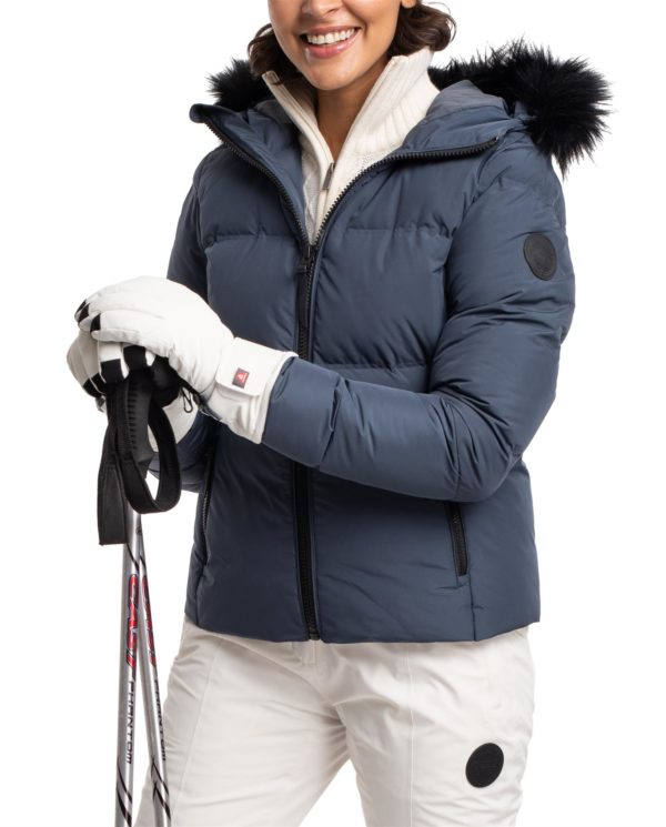 Twentyfour Meribel Warm Jacket Nattblå model nærbilde