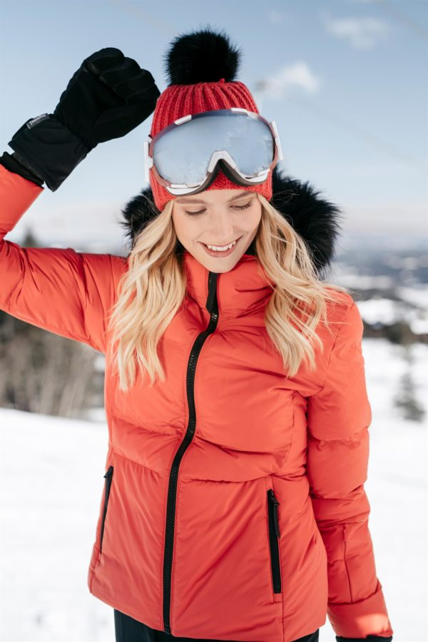 Twentyfour Meribel Warm Jacket Tranebær model med lue