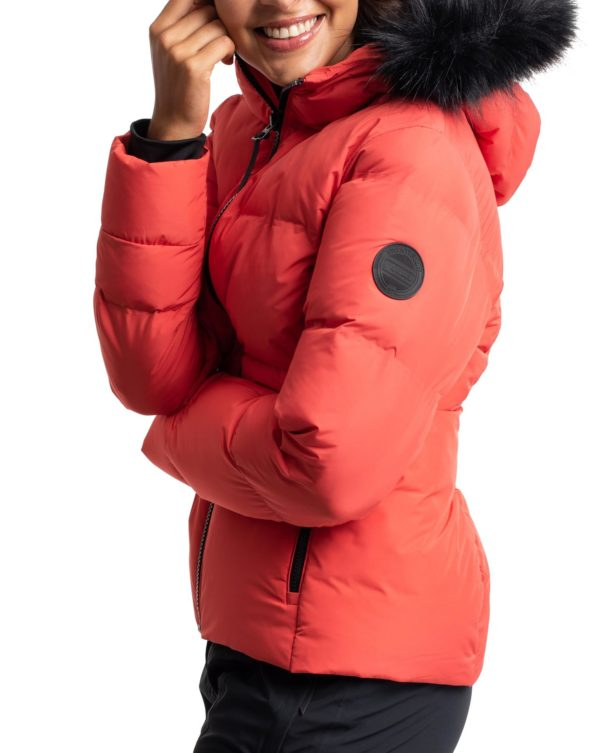Twentyfour Meribel Warm Jacket Tranebær model nærbilde