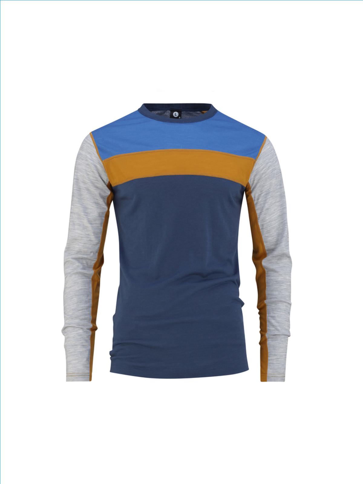 Bula Retro wool Crew denim genser front